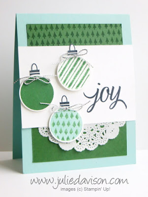 VIDEO: Kissing Technique + Stamp-a-ma-jig Tips for Stampin' Up! Your Presents Christmas Card 2015 Holiday Catalog #stampinup #christmas www.juliedavison.com