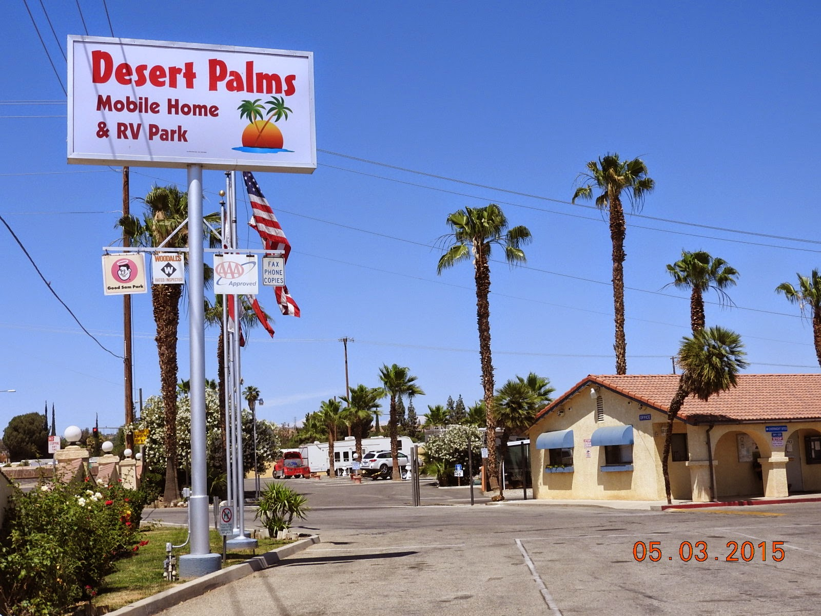 This Is Where We Are Staying For The Night Why It Many RV Parks Have Palm Trees Arrived About Noon And Hot