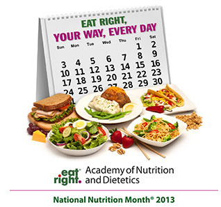 the National Nutrition Month® 2013 Theme