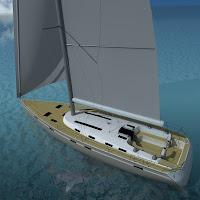 3d sail boat bavaria cruiser