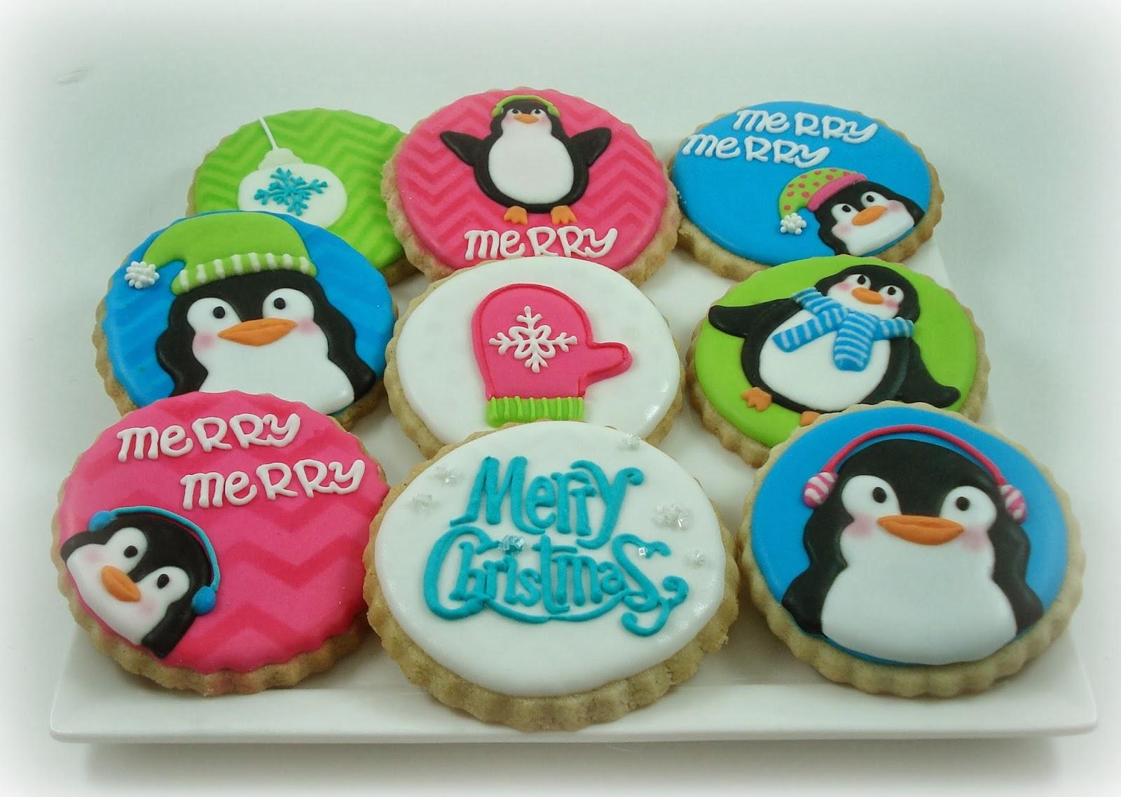 Sweet Treats & Hea... Round Birthday Sugar Cookies