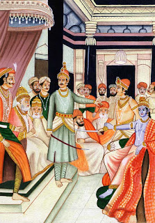 Krishna in Court of King Dhritarashtra