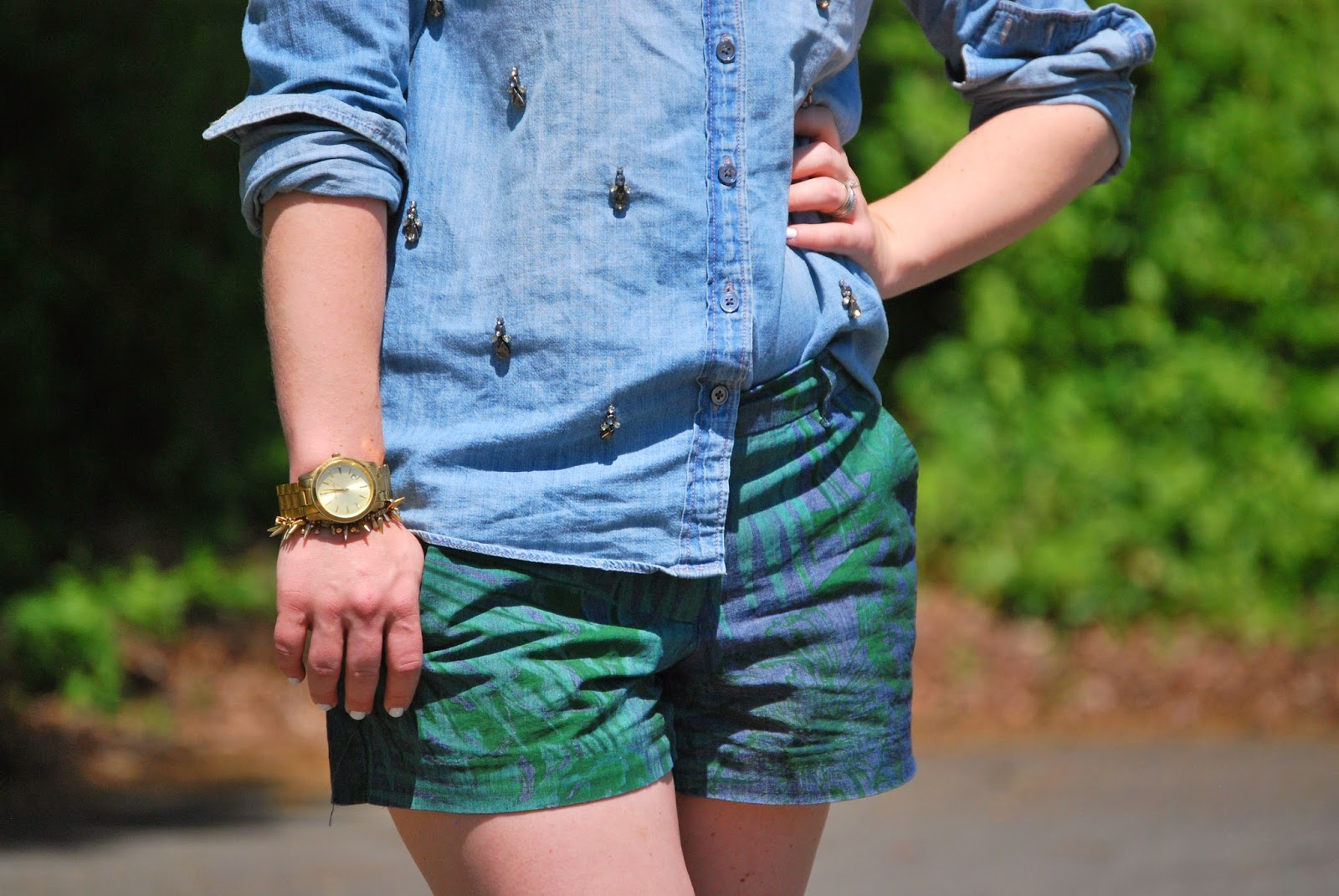 JCrew, Gap, Chambray, Print Shorts