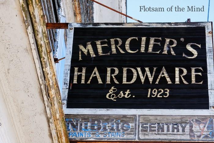 Vintage Hardware Store Sign - Flotsam of the Mind