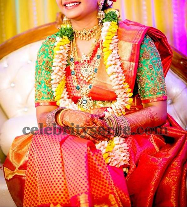 Bride in Grand Elbow Length Blouse