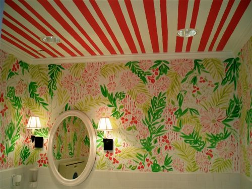 Pinkpagodastudio for the love of pink lilly pulitzer for Lilly pulitzer bathroom