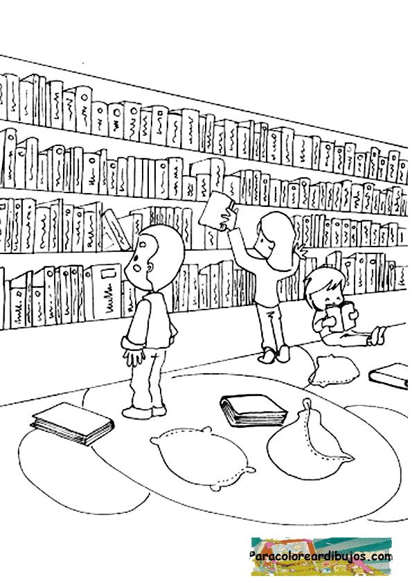 biblioteca para colorear