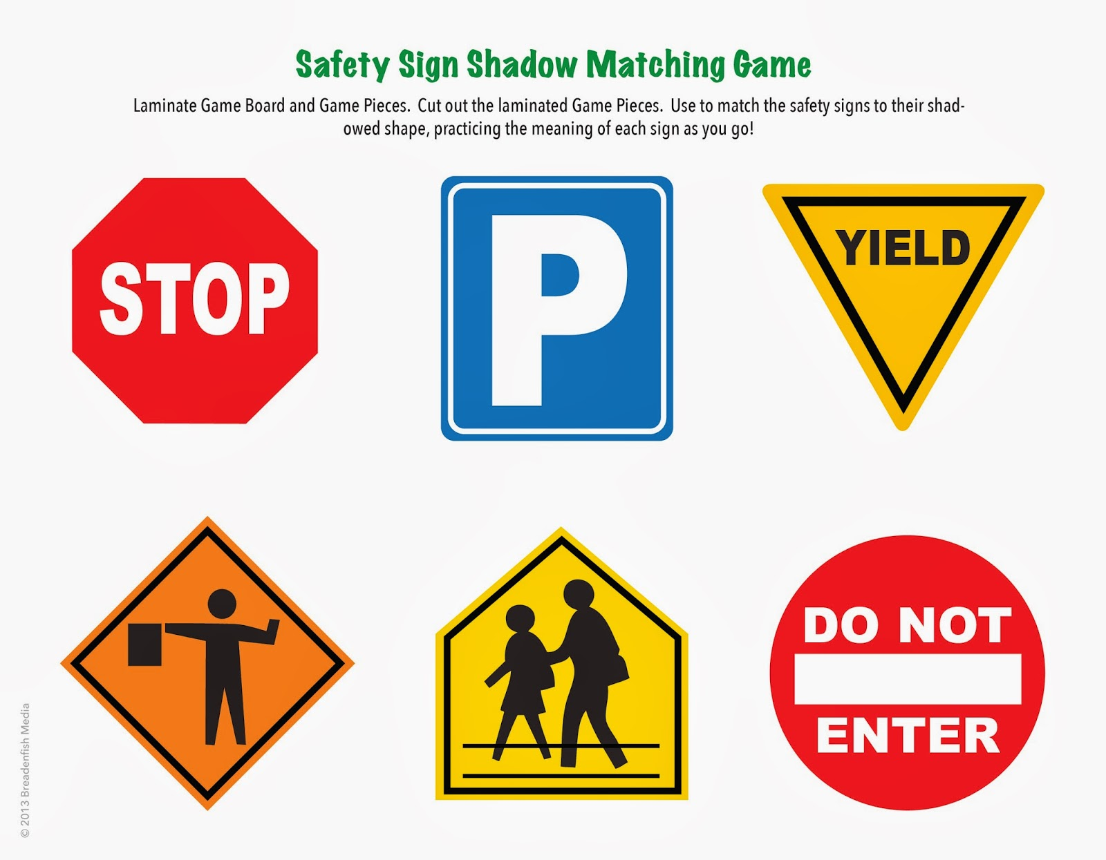 Trust image with free printable safety signs