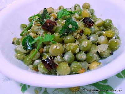 Green peas stir fry