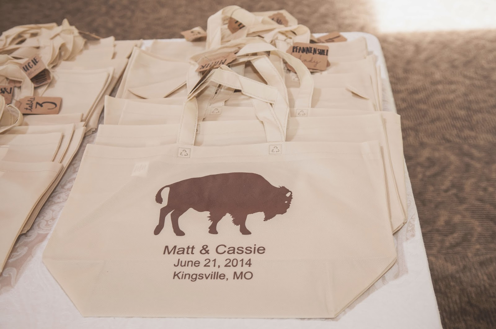 Reusable Tote Bag Wedding Favors