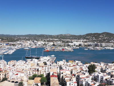 View from the walls of Ibiza Old Town