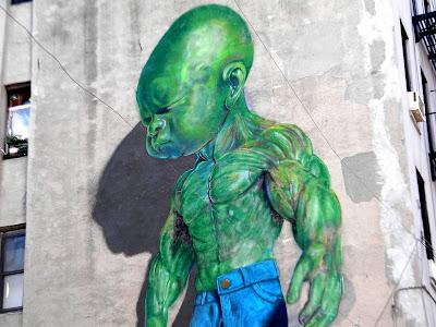 Graffiti green hulk baby photo