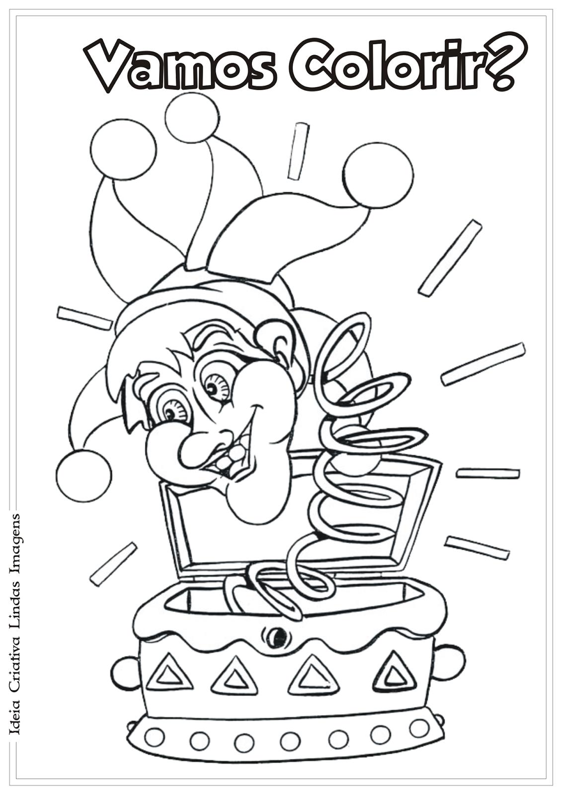 Carnaval desenho para colorir