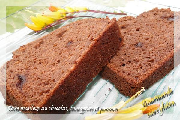 Cake moelleux au chocolat, courgette et pomme