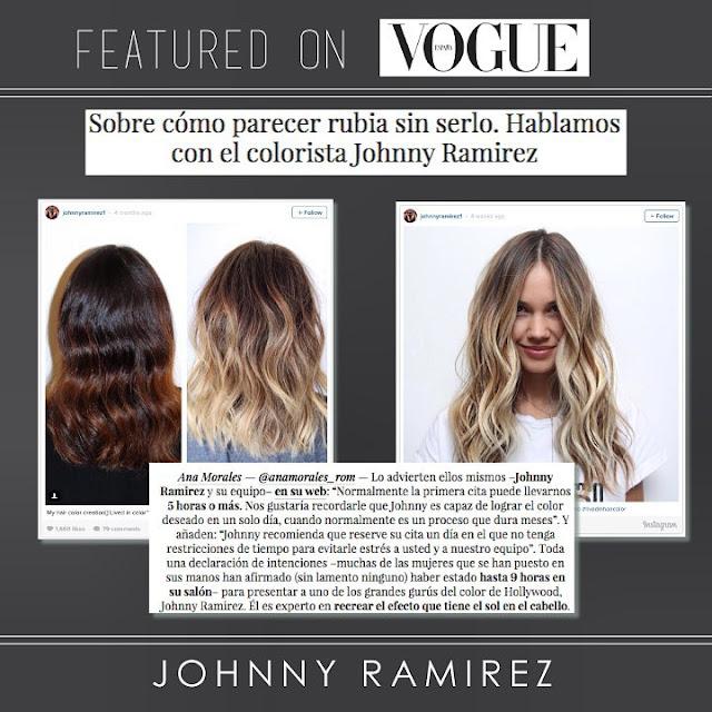 VOUGE, SPAIN, Johnny Ramirez, Lived in Color, Lived in Blonde, blonde, Highlights, Hair color