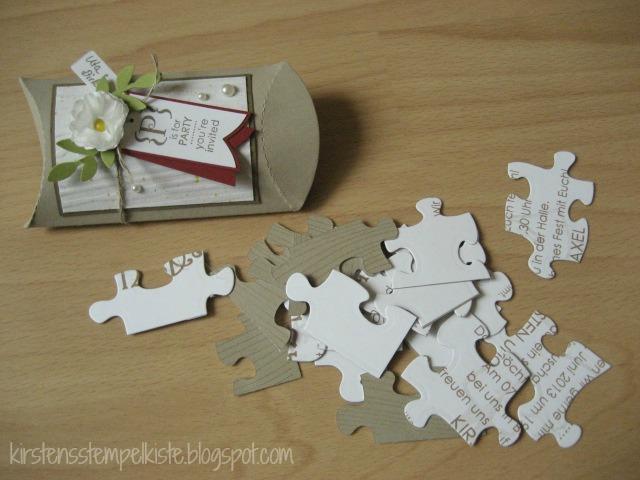 Kirsten Stempelkiste: Einladungen zur Hölzernen Hochzeit