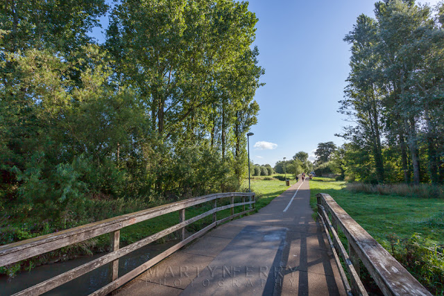 Cogges Mill pathway at Witney Oxfordshire by Martyn Ferry Photography
