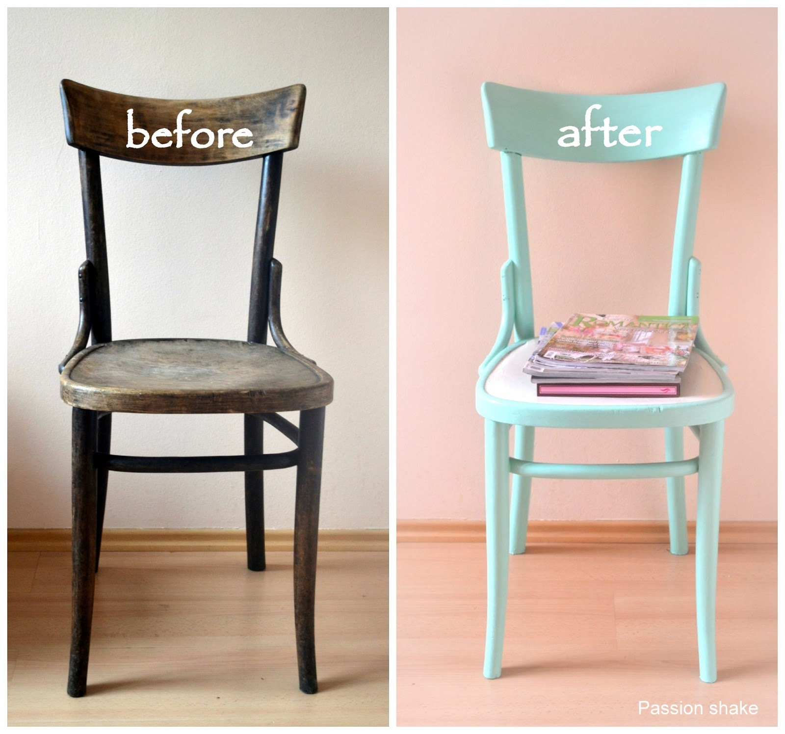 Passion Shake : DIY Painted Pastel Wooden Chair. Full resolution‎  picture, nominally Width 1600 Height 1496 pixels, picture with #6C462A.