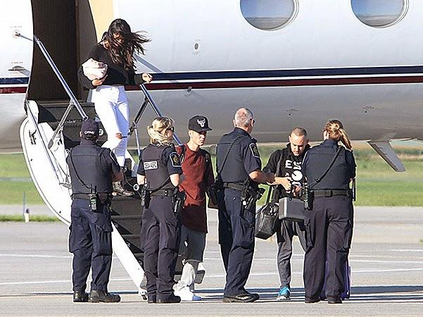 Selena Gomez and Justin Bieber in Canada