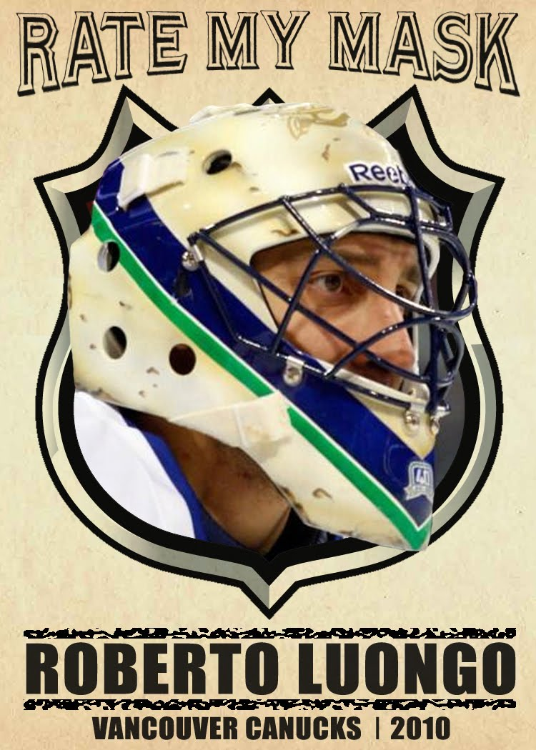 My Hockey Card Obsession Rate My Mask Roberto Luongo