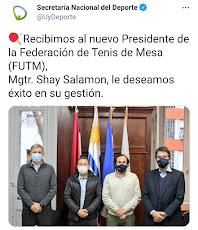 Nuevo presidente de la Federación se presenta ante autoridades de la Secretaría Nacional de Deporte