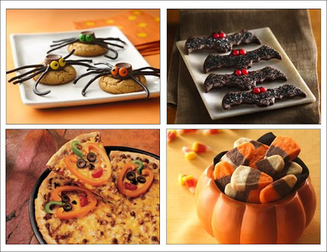 ... Jack-O-Lantern Pizza, Mashed Potato Monsters, Candy Corn Cookies