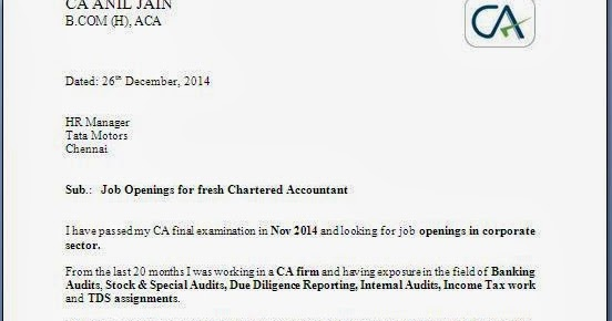 Tax auditor cover letter