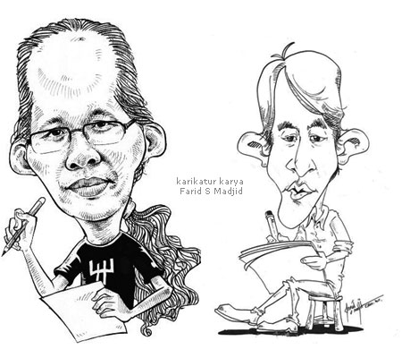 Dadang Pribadi dan Reza in Karikatur by Farid S Madjid