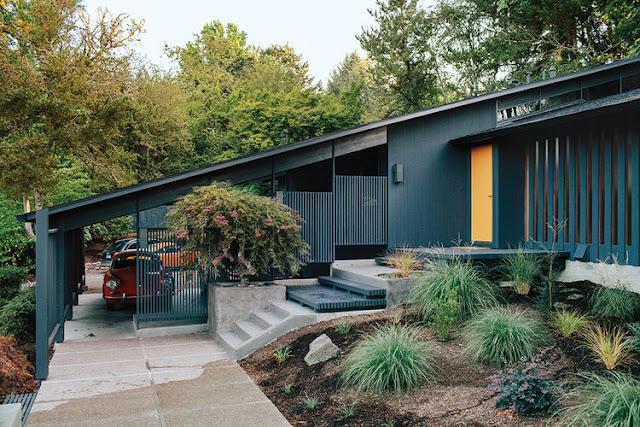Mid-century Design reloaded in Portland - fantastisch geschlossene Einrichtung zum Wohnen und Leben in einem Guss