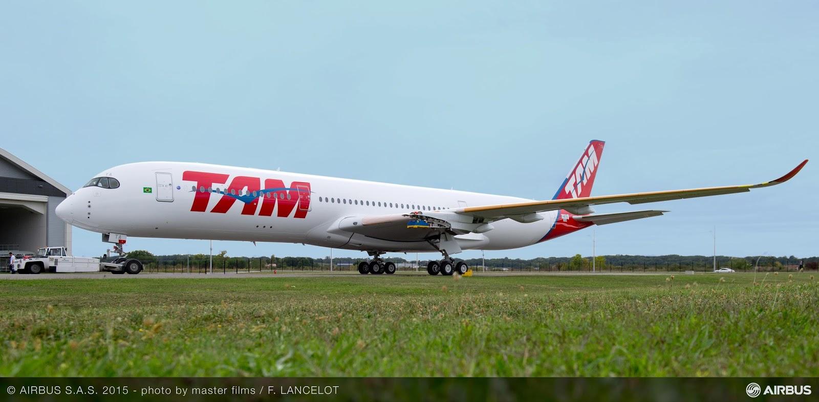 É MAIS QUE VOAR | FOTOS | TAM Airlines revela seu primeiro A350 XWB