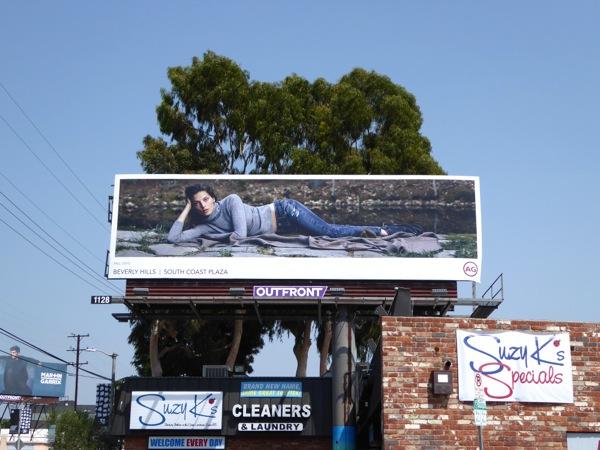 Daria Werbowy AG Jeans Fall 2015 billboard