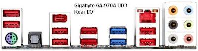 Gigabyte GA-970A UD3 - rear i/o panels