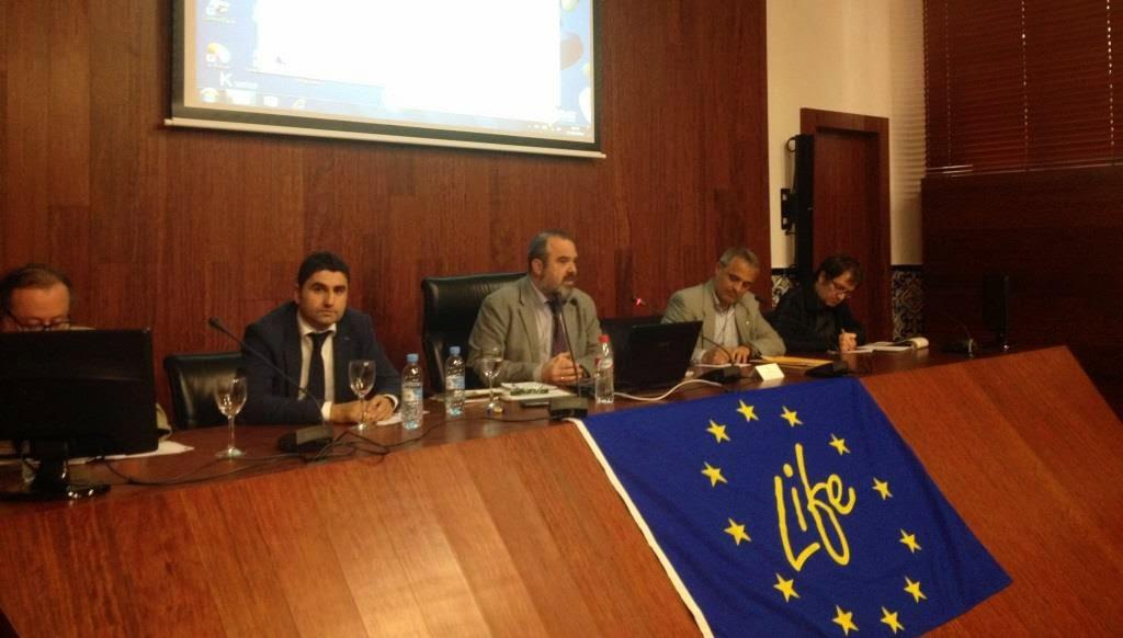 en el Salón de Grados de la Facultad de Derecho. Murcia. LIFE+ Garbancillo