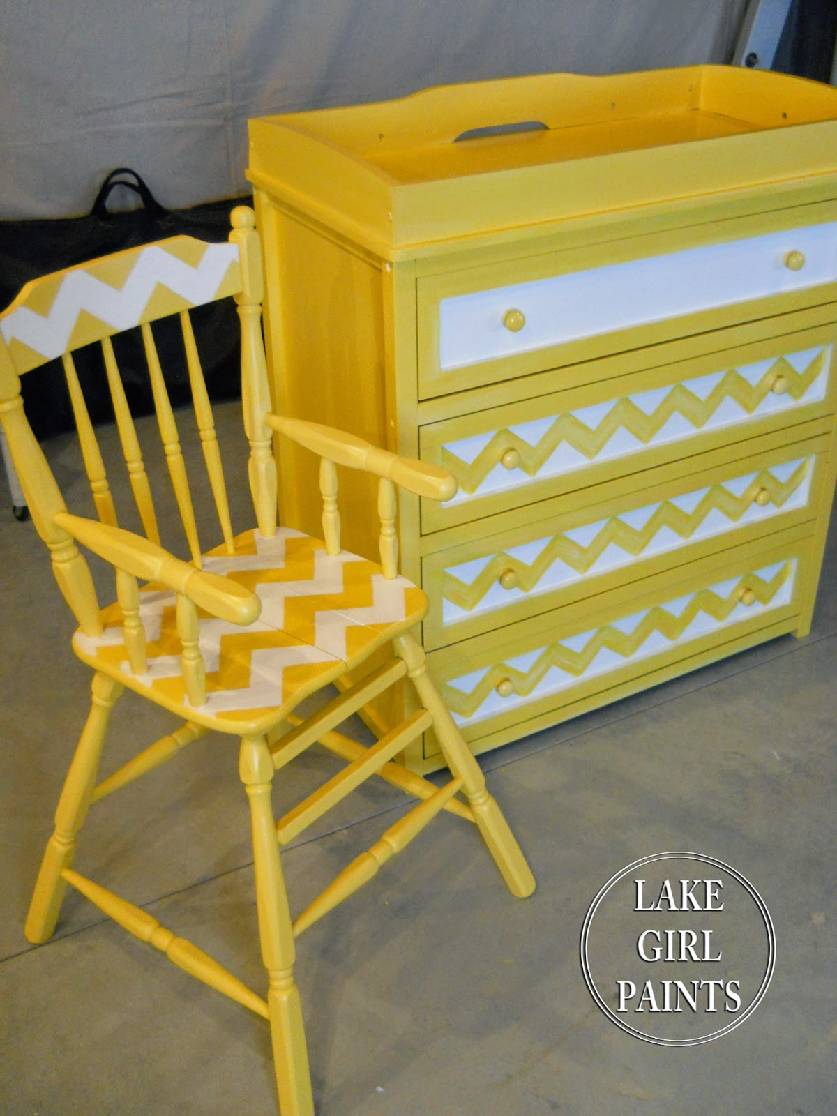 Lake girl paints painted patterns on furniture for Furniture 80s band