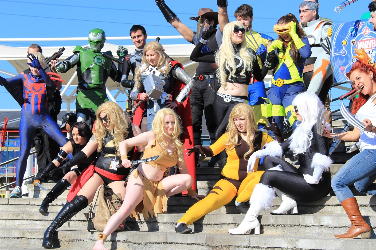 Marvel cosplay ensemble, London Super Comics Con
