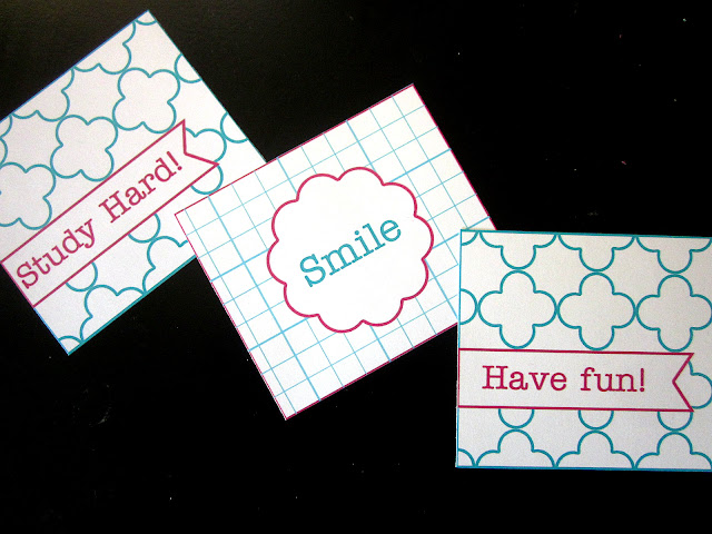 lunchbox notes, free printable