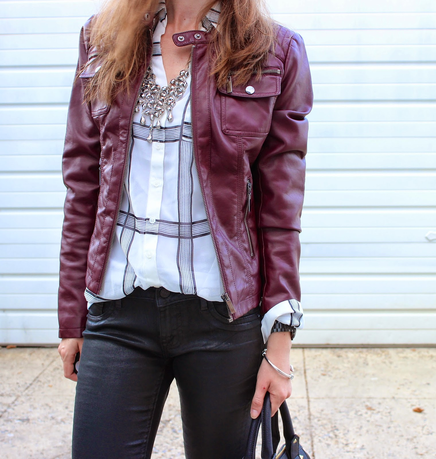 Fall Preview Friday || Leather + Plaid