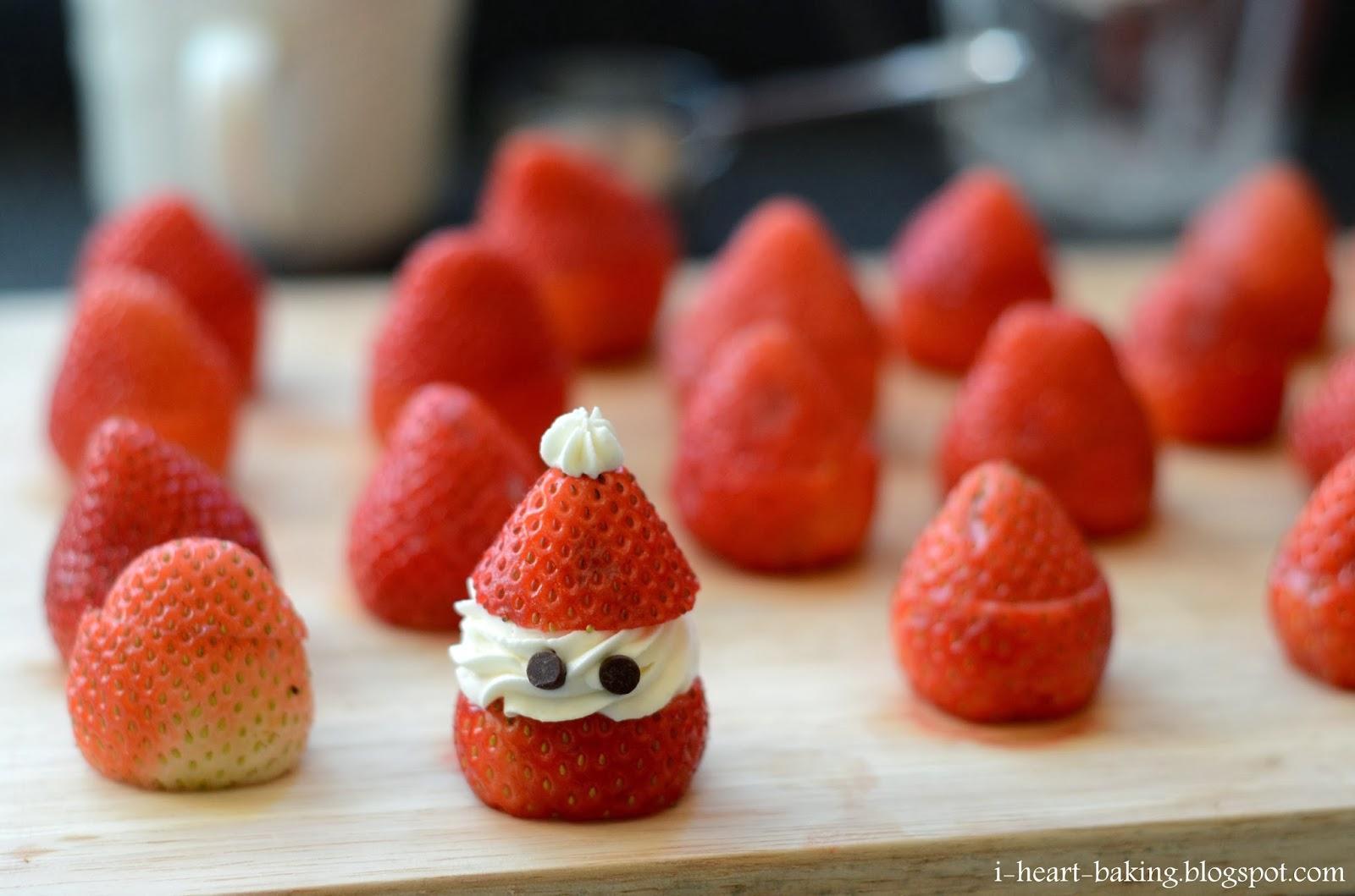 I Heart Baking Strawberry Santas