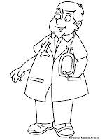 Mewarnai Gambar Dokter