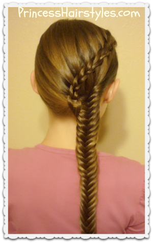 Scissor Waterfall Braid and Fishtail Hairstyle Tutorial
