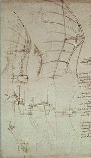 Leonardo Da Vinci. Disseny d'ala batent.
