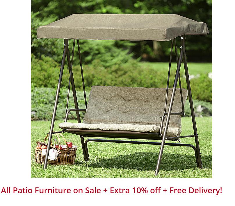 Essential Garden 2 Seat Garden Swing Reg 179 Free Shipping Kmart Patio Furniture