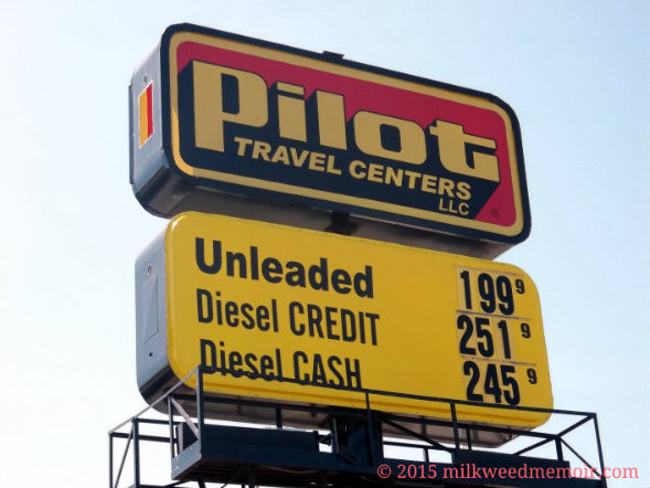 Gas below $2 per gallon at Pilot, Little Rock, Arkansas