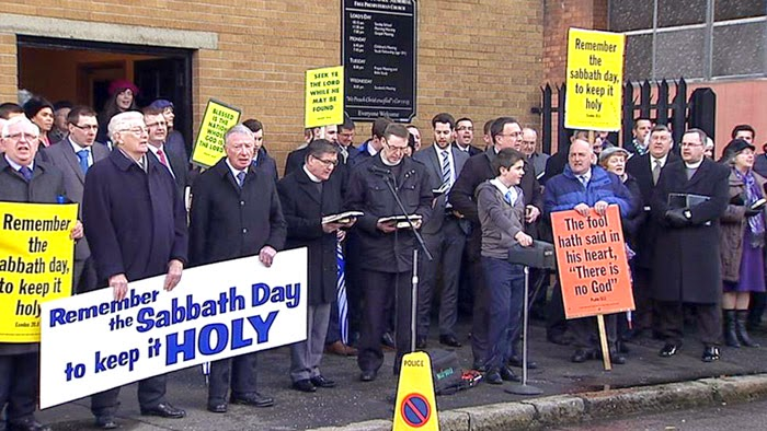 Churches in Ireland Protest the playing of sports on Sunday