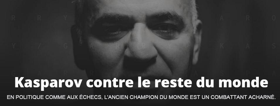 Kasparov contre le reste du monde © Chess & Strategy