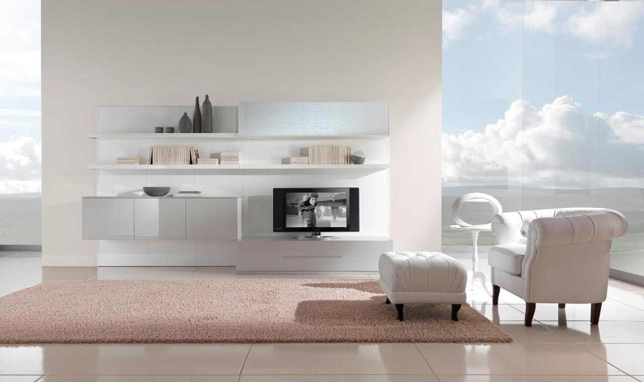 Wonderful white living room interior ideas wonderful - White living room furniture ideas ...