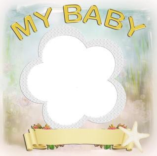marco para colocar fotos de bebes