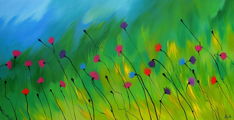 Cuadros modernos pinturas y dibujos paisajes modernos - Pintar en lienzo para principiantes ...
