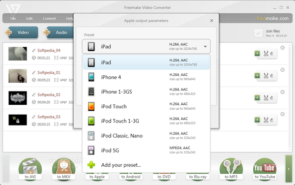 Freemake Video Converter 4.1.6.3 скачать.