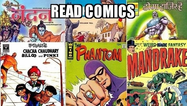different comic books